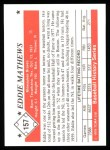 1979 TCMA The 50's #157  Eddie Mathews  Back Thumbnail