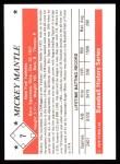 1979 TCMA The 50's #7  Mickey Mantle  Back Thumbnail