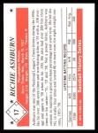 1979 TCMA The 50's #17  Richie Ashburn  Back Thumbnail