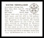1950 Bowman REPRINT #114  Wayne Terwilliger  Back Thumbnail