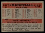 1958 Topps #397 NUM  Tigers Team Checklist Back Thumbnail
