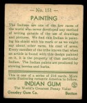 1933 Goudey Indian Gum #151   Painting  Back Thumbnail