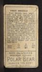 1911 T205 #127  Fred Merkle  Back Thumbnail