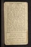 1911 T205 #68  Earl Gardner  Back Thumbnail