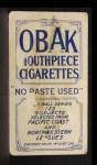 1910 T212 Obak xOLD Dan Ryan  Back Thumbnail