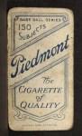 1909 T206  Jack Chesbro  Back Thumbnail
