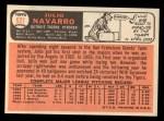 1966 Topps #527  Julio Navarro  Back Thumbnail