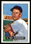 1951 Bowman REPRINT #10  Red Schoendienst  Front Thumbnail