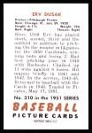 1951 Bowman REPRINT #310  Erv Dusak  Back Thumbnail
