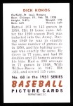 1951 Bowman REPRINT #68  Dick Kokos  Back Thumbnail