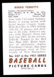 1951 Bowman REPRINT #257  Birdie Tebbetts  Back Thumbnail