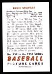 1951 Bowman REPRINT #159  Ed Stewart  Back Thumbnail