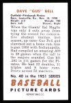 1951 Bowman REPRINT #40  Gus Bell  Back Thumbnail