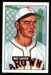 1951 Bowman REPRINT #172  Ned Garver,  Front Thumbnail