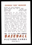 1951 Bowman REPRINT #11  Red Munger  Back Thumbnail