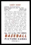 1951 Bowman REPRINT #151  Larry Doby  Back Thumbnail
