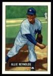 1951 Bowman REPRINT #109  Allie Reynolds  Front Thumbnail