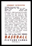 1951 Bowman REPRINT #107  John Wyrostek  Back Thumbnail
