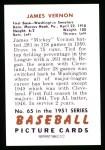 1951 Bowman REPRINT #65  Mickey Vernon  Back Thumbnail