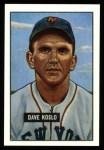 1951 Bowman REPRINT #90  Dave Koslo  Front Thumbnail