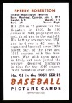 1951 Bowman REPRINT #95  Sherry Robertson  Back Thumbnail