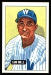 1951 Bowman REPRINT #168  Sam Mele  Front Thumbnail