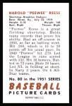 1951 Bowman REPRINT #80  Pee Wee Reese  Back Thumbnail