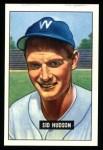 1951 Bowman REPRINT #169  Sid Hudson  Front Thumbnail