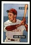 1951 Bowman REPRINT #28  Eddie Waitkus  Front Thumbnail