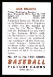 1951 Bowman REPRINT #97  Bob Kuzava  Back Thumbnail