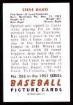 1951 Bowman REPRINT #265  Steve Bilko  Back Thumbnail