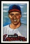 1951 Bowman REPRINT #30  Bob Feller  Front Thumbnail