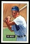 1951 Bowman REPRINT #176  Vic Wertz  Front Thumbnail