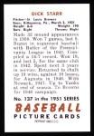 1951 Bowman REPRINT #137  Dick Starr  Back Thumbnail