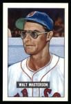 1951 Bowman REPRINT #307  Walt Masterson  Front Thumbnail
