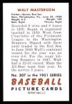 1951 Bowman REPRINT #307  Walt Masterson  Back Thumbnail