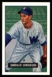 1951 Bowman REPRINT #96  Sandy Consuegra  Front Thumbnail