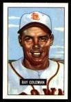 1951 Bowman REPRINT #136  Ray Coleman  Front Thumbnail