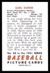 1951 Bowman REPRINT #83  Carl Scheib  Back Thumbnail