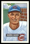 1951 Bowman REPRINT #318  Warren Hacker  Front Thumbnail