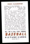 1951 Bowman REPRINT #58  Enos Slaughter  Back Thumbnail