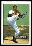 1951 Bowman REPRINT #134  Warren Spahn  Front Thumbnail
