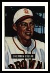 1951 Bowman REPRINT #100  Sherm Lollar  Front Thumbnail