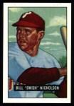1951 Bowman REPRINT #113  Swish Nicholson  Front Thumbnail