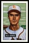1951 Bowman REPRINT #43  Billy DeMars  Front Thumbnail