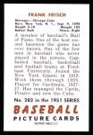 1951 Bowman REPRINT #282  Frankie Frisch   Back Thumbnail