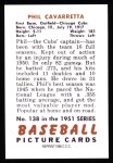1951 Bowman REPRINT #138  Phil Cavarretta  Back Thumbnail