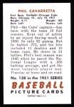 1951 Bowman Reprints #138  Phil Cavarretta  Back Thumbnail