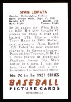 1951 Bowman REPRINT #76  Stan Lopata  Back Thumbnail