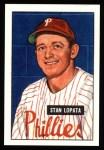 1951 Bowman REPRINT #76  Stan Lopata  Front Thumbnail